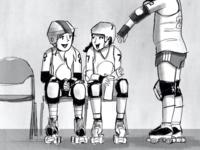 Inktober Roller Derby Illustration