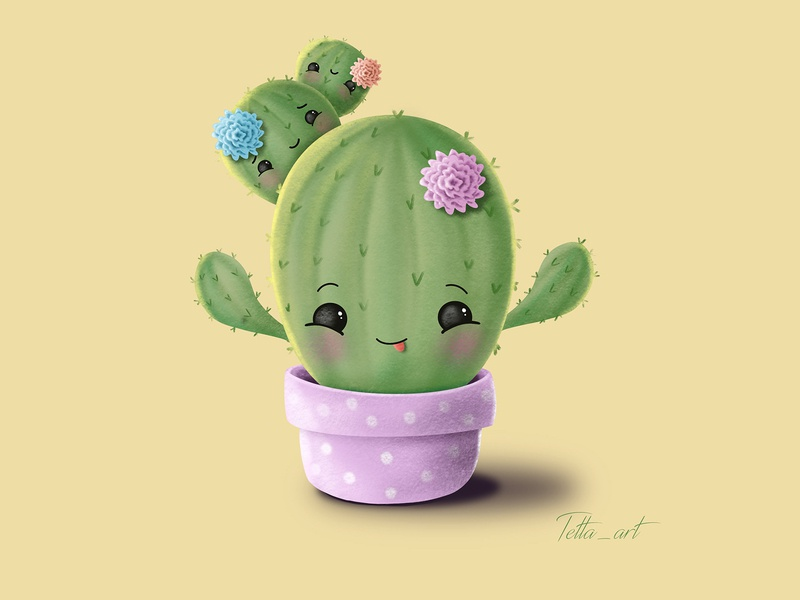 Happy cactus family)