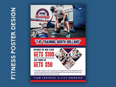 Fitness Poster Template poster fitness gym flyer branding illustration excercise poster fitness-poster-design fitness-poster-design photoshop