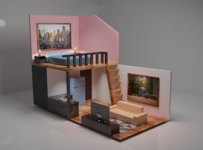 Tiny House house design blendercycles beginner 3d blender3d blender tiny house arctecture tinyhouse