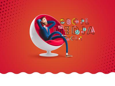 Social Media Design Vol.1 - +200 Design inspiration color egyptian logo egypt vector artwork illustration designs art design social media