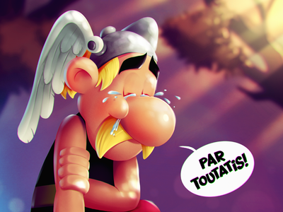 Par Toutatis! timelapse character procreate ipad illustration asterix