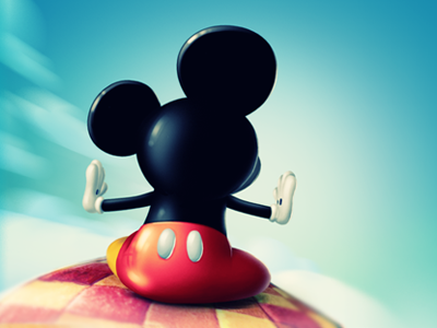 Mickey on the carpet photoshop illustration wallpaper iphone character