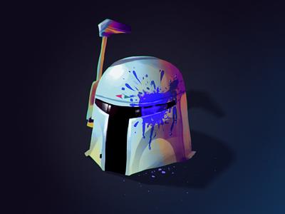 Inktober part 5 starwars helmet birdhouse outpost vhs worm dune procreate ipad illustration armor