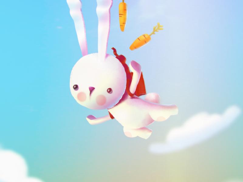 flying rabbit rabbit ipad wacom forfun procreate illustration