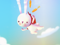 flying rabbit