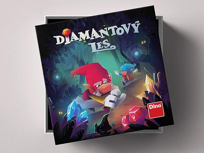 Diamond forest boardgame forest dwarfs diamond procreate illustration boardgames