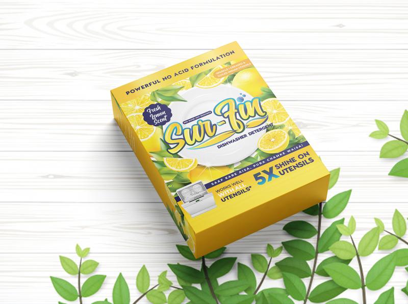 Sur-Fin Detergent Packaging typography type illustrator illustration flat logo design branding