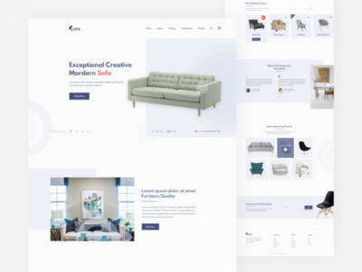 Home Furniture Landing Page Design For Client