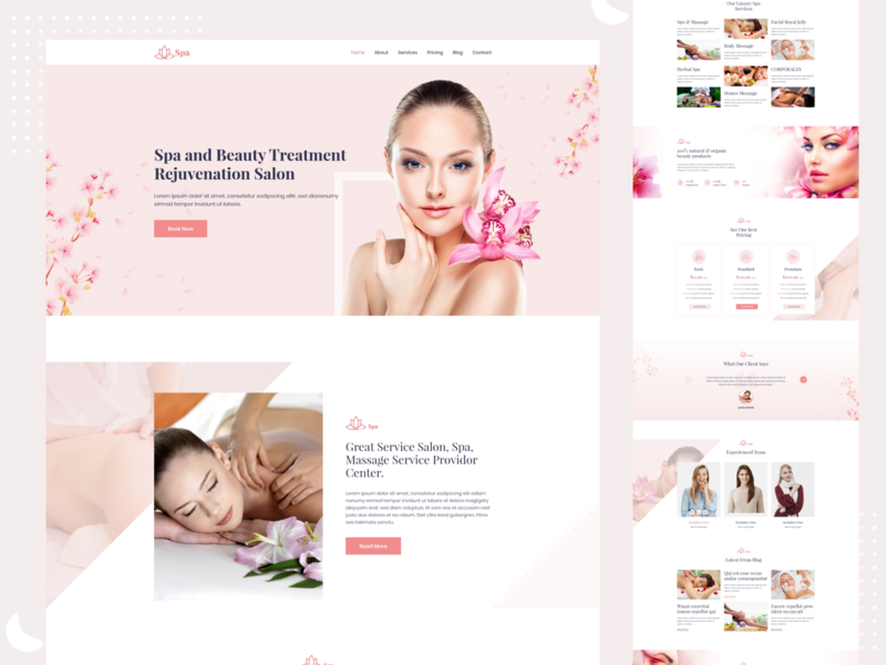 Health & Beauty Website Landing Page Design For Client