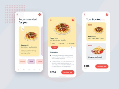 Home Food Delivery App UI Design For Client