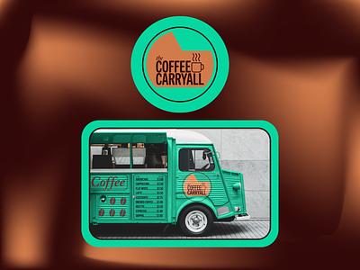 coffee carryall icon vector flat branding logo design illustration