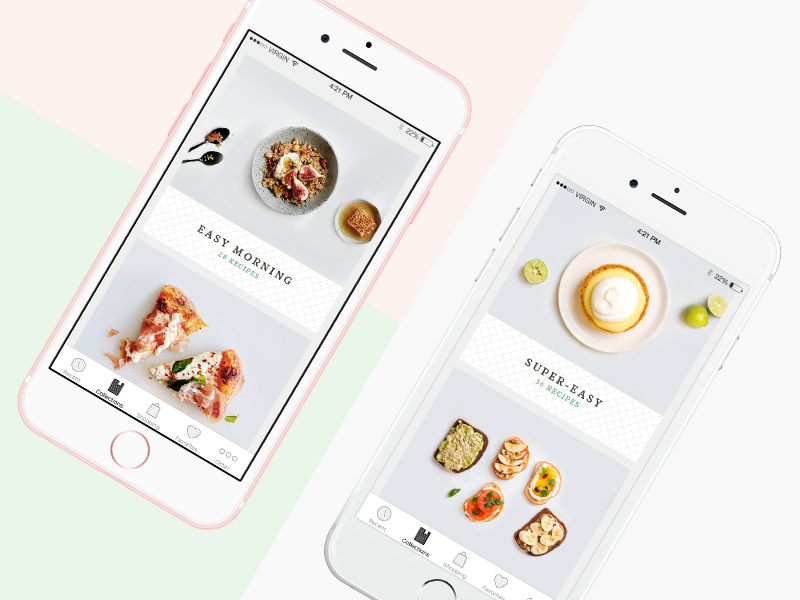 Recipe Application uiux ios business white app smooth pizza food recipe ux ui