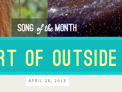Song of the Month wordpress post