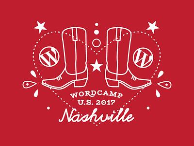 WCUS Bandana sticker wordpress boots nashville wordcamp wcus