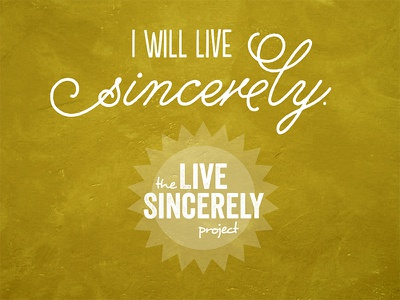 Sincerely typography livesincerely