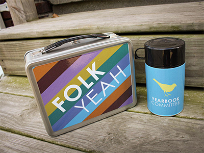 Folk Yeah lunchbox merch band yearbook committee
