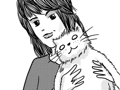Mel and her cat