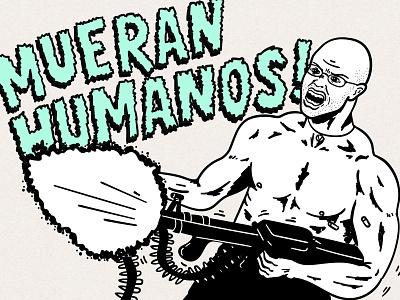 The Vegan Facist - Gary Yourofsky activism vector lettering comic rambo misanthropy veganism vegan