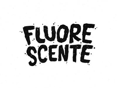 Fluorescente lettering logo design logo