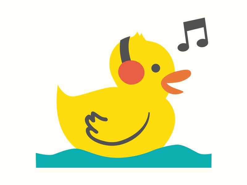 Rubber duck singing by Alejandro Narvez  Dribbble