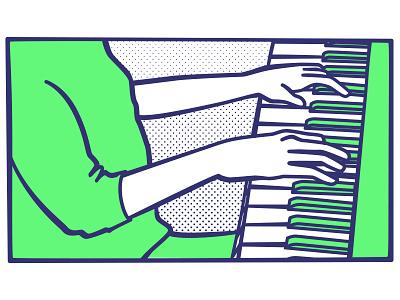 Pianista illustration comics piano music