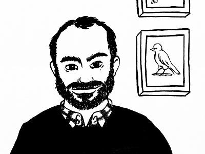 Lito artist illustrator friend birds inktober ink portrait