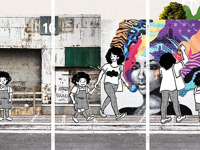 Del arquitecto al graffitero, y del policía al maestro grafitti education medellín colombia editorial illustration urbanism street art editorial ink illustration