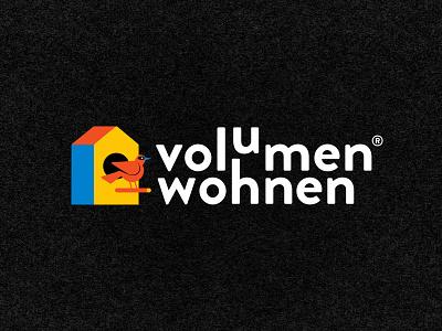 Volumen Wohnen furniture birdhouse web design logo brand identity