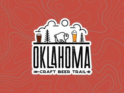 OKCBTV1 brand nature logo design buffalo branding illustration travel trail craft beer oklahoma