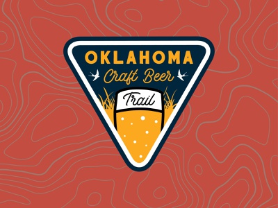 OKCBTV2 vector brand nature logo design beer badge illustration branding trail craft beer oklahoma