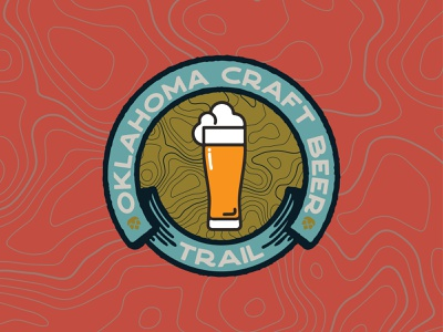 OKCBTV4 vector brand nature logo branding design illustration beer trail craft beer oklahoma