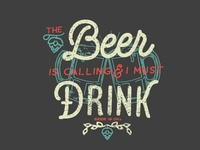 Beer Is Calling Sticker