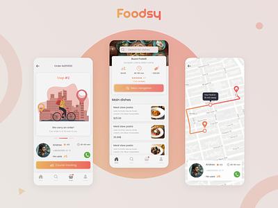 Food Delivery App illustration art ui ux minimal design clean graphic design