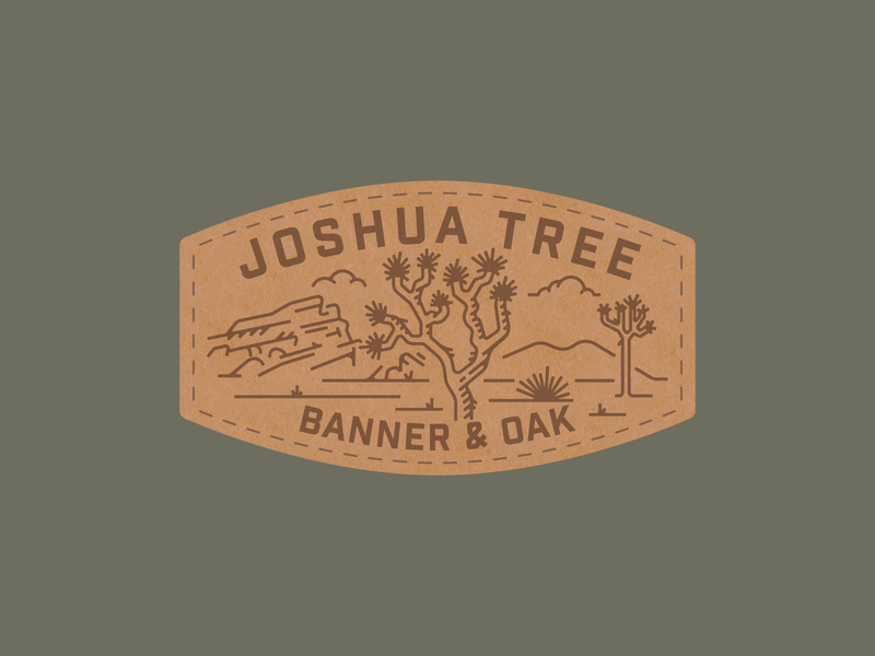 Joshua Tree Banner & Oak Patch national park leather