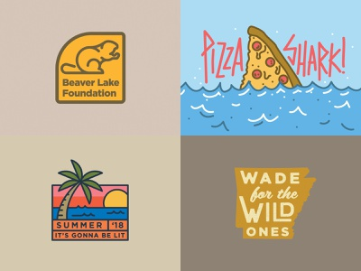 2018 summer logo pizza fishing fish arkansas outdoor