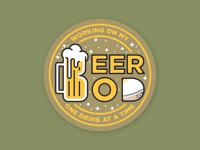 Beer Bod Coaster coaster belly gut mug dad bod beer