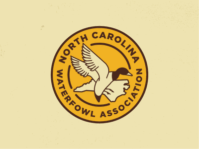 North Carolina Waterfowl Association logo conservation hunting duck outdoor
