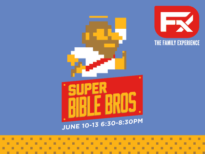 Super Bible Bros vbs 8-bit jesus bible