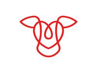 Heart Cattle Logo