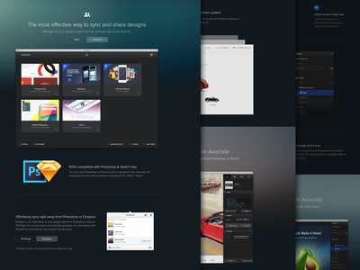 Avocode Features Page avocode html css extract psd inspect sketch design tool developers assets export