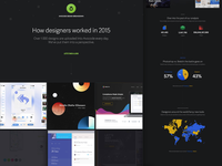 How UI designers worked in 2015? avocode graph web ui design infographic landing page