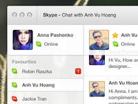 Skype redesign rebound + PSD