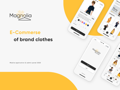 Magnolia (Orion Redesign) application app admin pannel android ios magazine orange ux ui presentation design presentation shop marketing