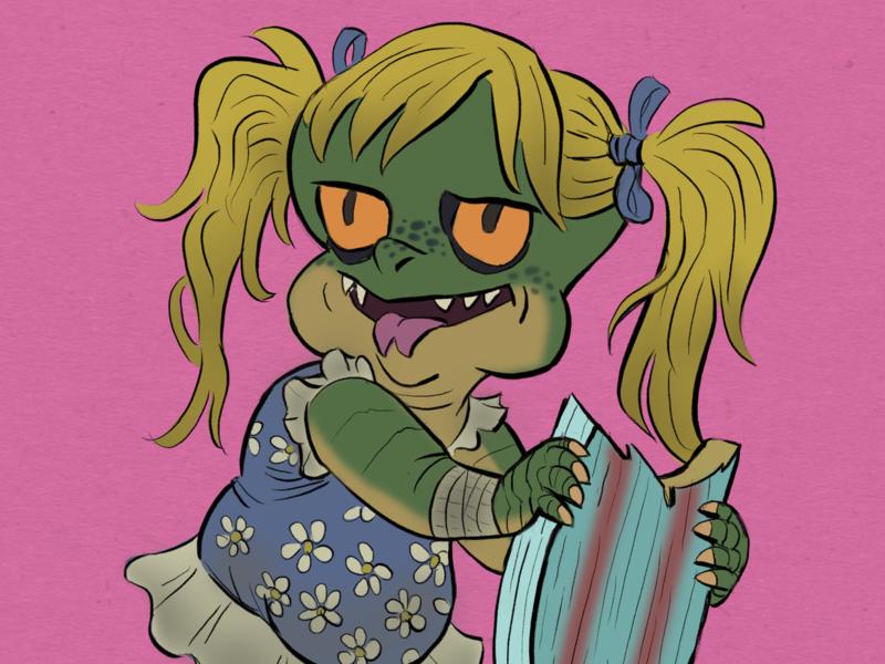 beach lizard daughter