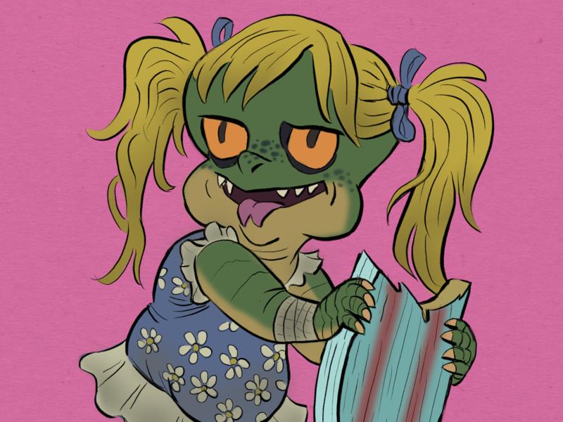 beach lizard daughter