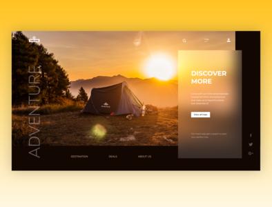 DREAMS Travels ux discover explore travel webdesign designer adobexd flat design webpage design