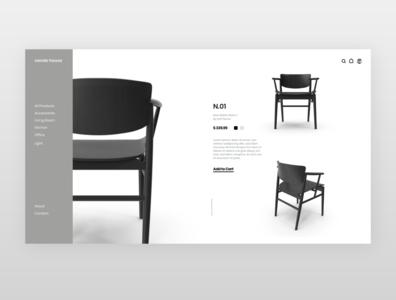 nendo house | Inspired website design website add to cart product page shopify shop chair black ui xd design designer webdesign ux adobexd