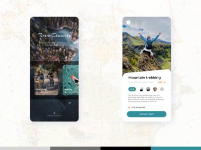 Fierce Discovery   Mobile App   Inspired ux design app designs holidays trekking rafting mountain uitrends xd design uidesign adventure mobile application mobile app design adobexd