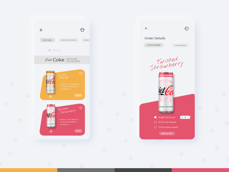 Can Shop ! cold drinks beverages minimalistic clean ui design clean ui mobile ui mobile app designer adobexd xd design orders coke can shopping app mobile app design
